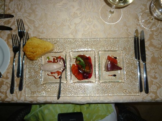Hotel Restaurant Kirchsteiger: beautifully presented and judged food