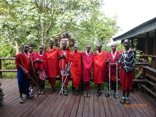 Ngorongoro Serena Safari Lodge: Our welcome reception