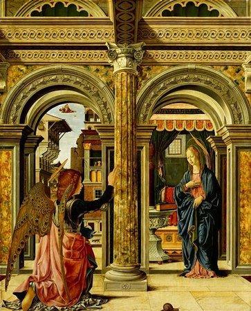 Gemäldegalerie Alte Meister: Annunciazione di Francesco Del Cossa