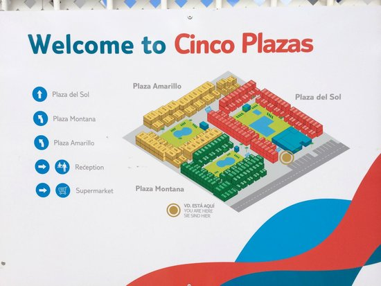 Map Of Cinco Plazas
