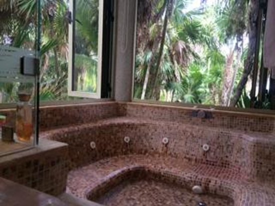 Valentin Imperial Maya: View from the tub in room 9201