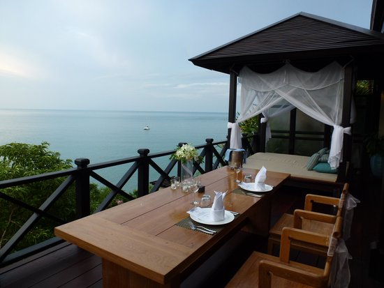 The Tongsai Bay: Our balcony on grand villa