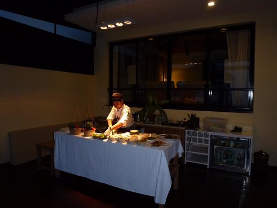 The Tongsai Bay: private meal prepared on our balcony