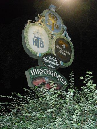 Hirschgarten: Insegna della Gasthaus