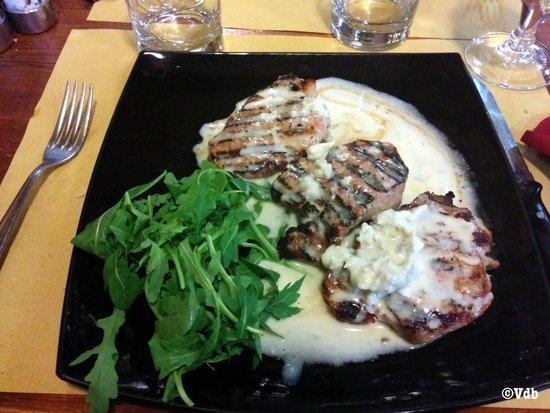La Botte: main dish with gorgonzola sauce