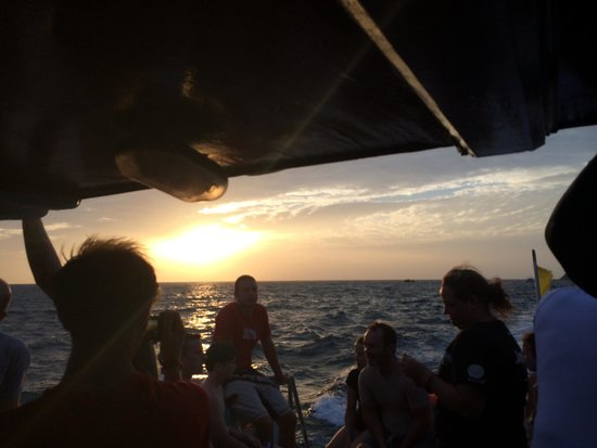 Simple Life Divers: Sunset on the boat