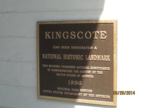 Newport Mansions: Kingscote Sign