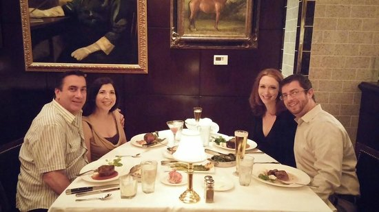The Capital Grille: Us--our food just arrived