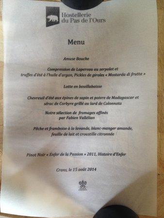 Le Restaurant Gastronomique L'Ours