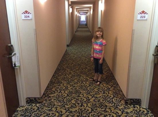 The Lotus Suites: super long hallways