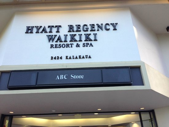 Hyatt Regency Waikiki Resort & Spa: 看板