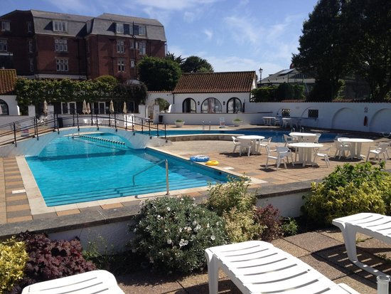 Pool Area Within Hotel Grounds Picture Of Victoria Hotel Sidmouth Tripadvisor