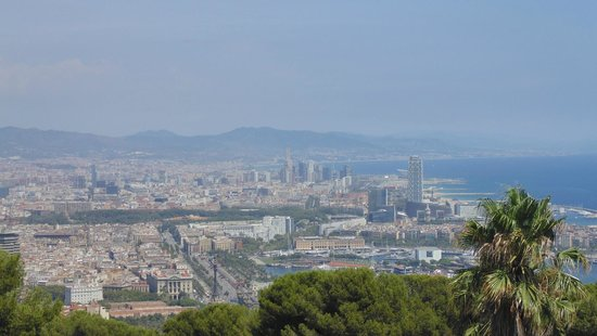 Montjuic Castle: View over the city