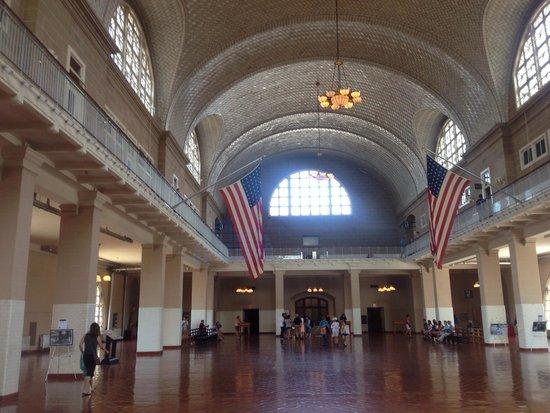 Ellis Island: Main room upstairs
