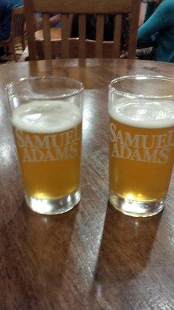 Samuel Adams Brewery : Beer samples at Sam Adams