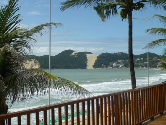 Manary Praia Hotel : from the patio looking at the protected dunes