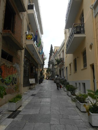 Adonis Hotel: The street view