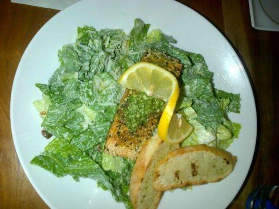 The Brickhouse Bar & Grill: pesto salmon