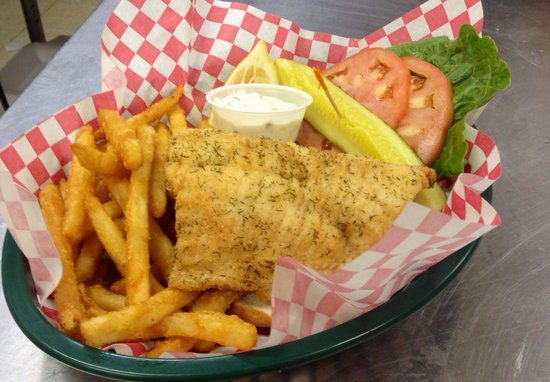 Mustang Lounge: 'The Swimmer' whitefish sandwich!