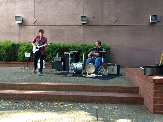 Hot Springs National Park: Local musicians Saturday afternoon. Awesome father/son talent