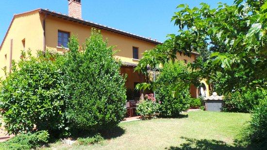 Montespertoli, Italien: Zicht op vakantiehuis vanuit de tuin