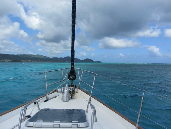 Adventure Caribbean Yacht Charter: the island from sea