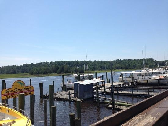 Capt. Juel's Hurricane: view from outdoor dining