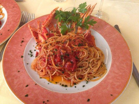 il delicato: Spaghetti con scampi