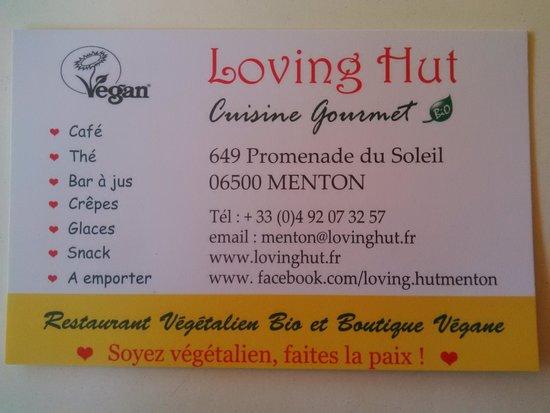 Loving Hut : Carte De Visite
