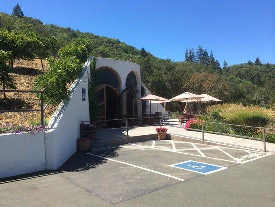 Entrance to Fritz Underground Winery
