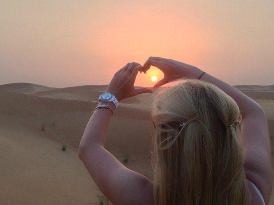 Arabian Adventures: Setting sun in desert