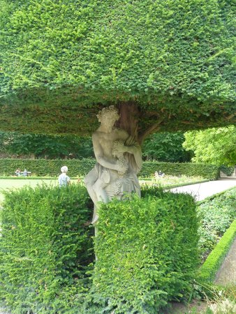 Die Residenz: Statue incorporated into a tree