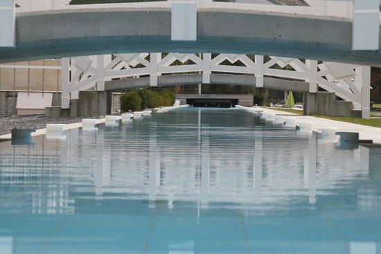 Hotel Ullensvang: the 86m long pool