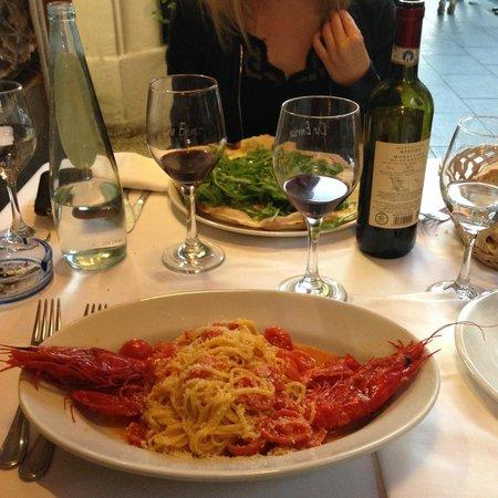 Da Enrico: Spaghetti ai gamberoni e pecorino