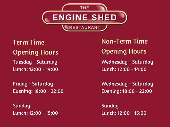Engine Shed Opening Hours
