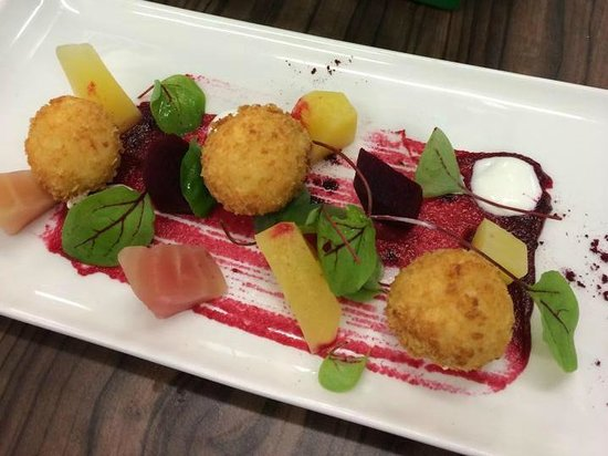 Engine Shed: Beetroot and goats cheese starter