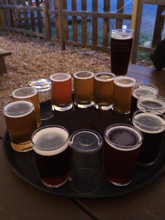 Pagosa Brewing & Grill : Beer sampler at Pagosa Brewery