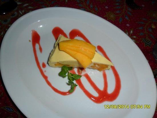 Poppies Restaurant: Il cheesecake al mango
