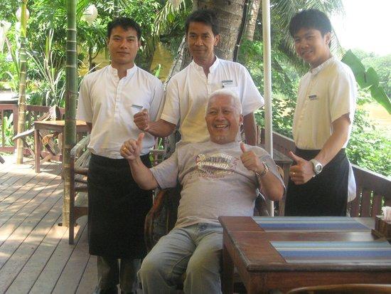 Burasari Heritage: With afternoon tea staff