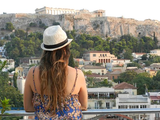 Plaka Hotel: Vista do terraço