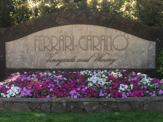 Ferrari-Carano Winery: The entrance