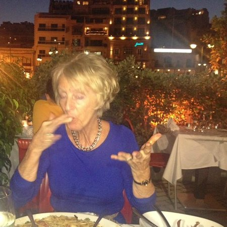 Vermell : Rosemary enjoying a special meal and birthday