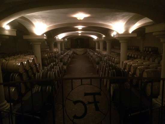 Ferrari-Carano Winery : The barrel room