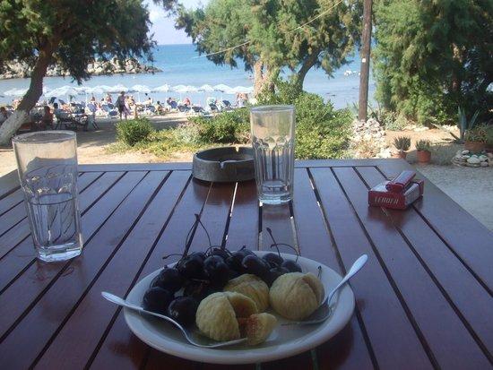 Aphrodite Beach Hotel: Ein wunderschöner Ausblick von der Terrasse aufs Meer!