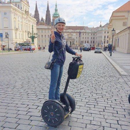 Prague On Segway, on E-Scooter, on Quad : Рядом с дворцом