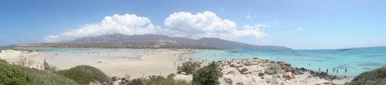 Playa de Elafonisi: Panoramic view of the lagoon
