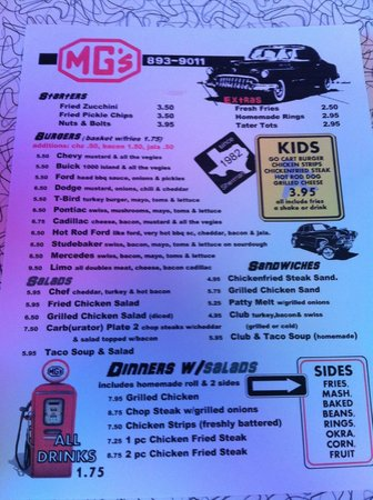 Sherman, TX: Menu!
