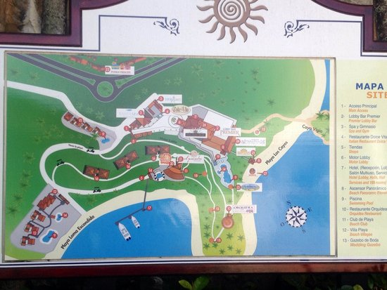 Grand Bahia Principe Cayacoa: Resort site plan