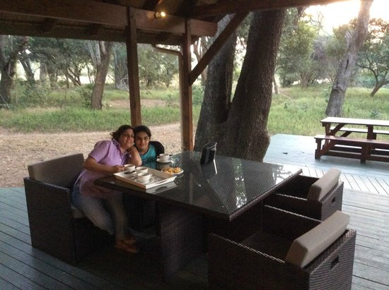 Bushwillow Collection: Enjoying the outdoor deck of the Bushwillow Cottage