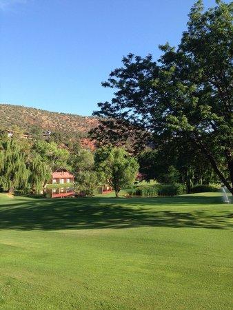 Poco Diablo Resort: Uitzicht vanaf terrasje hotelkamer.
